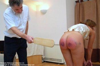 Severe paddling spank