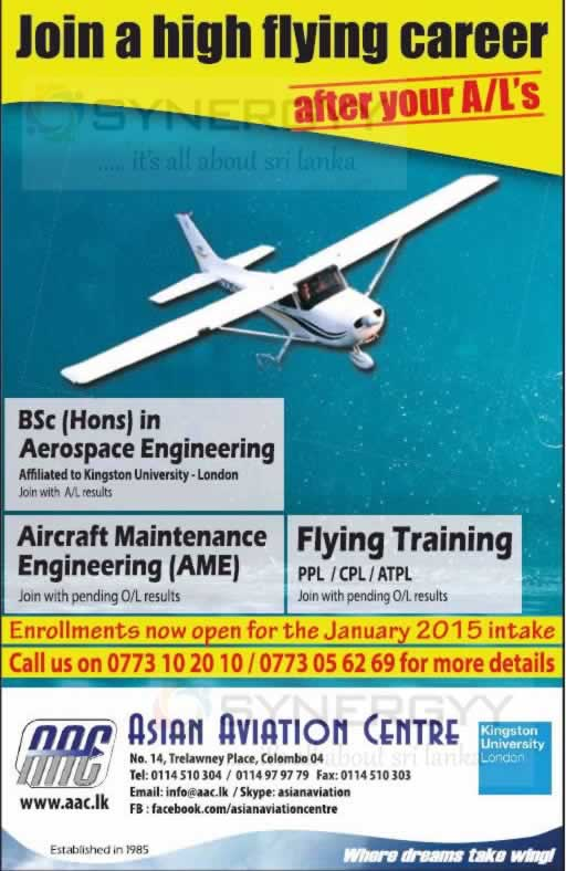 Ezzie reccomend Asian aviation centre sri lanka