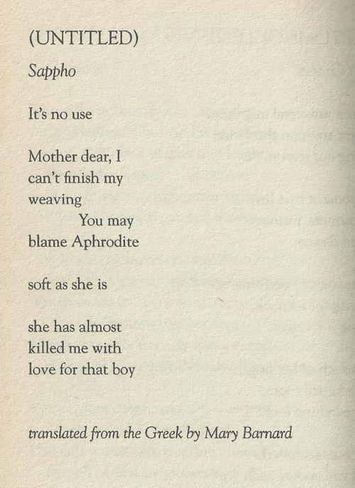 Virginity in sapphos poetry