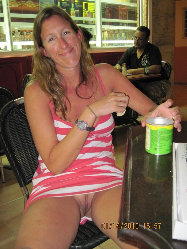 Sexy wife in public sorry