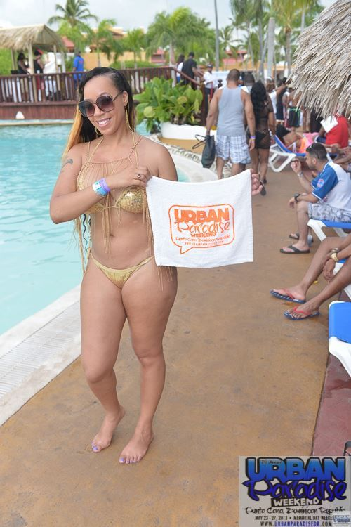 Mature pool party