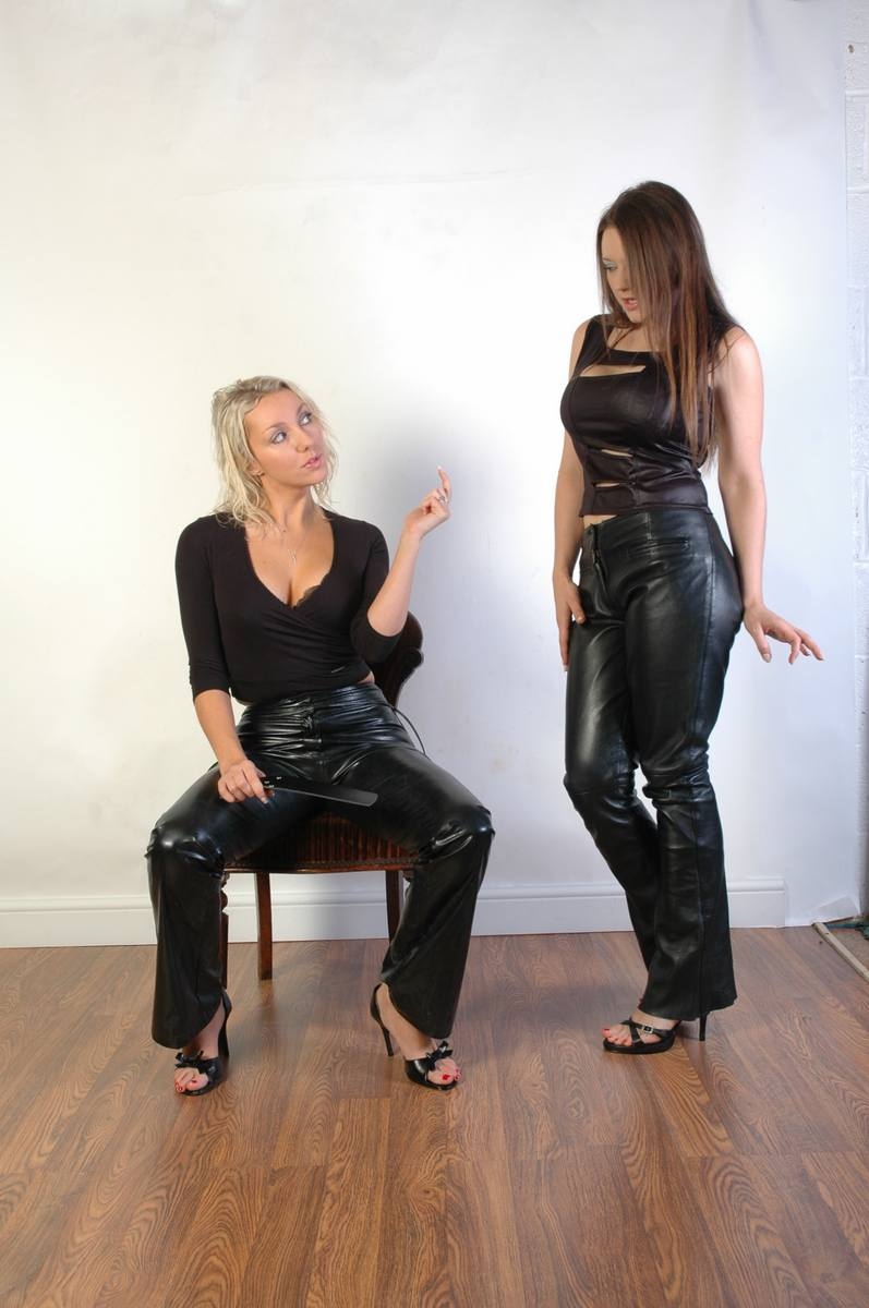 Spanking it in my leather
