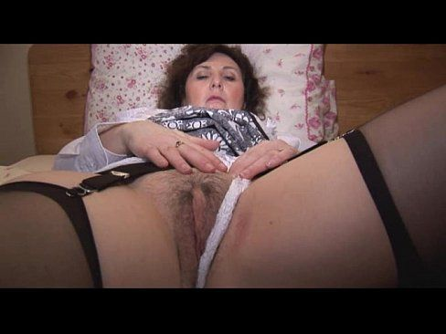 Hairy mature women striptease