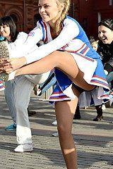 Cheerleader accident upskirt