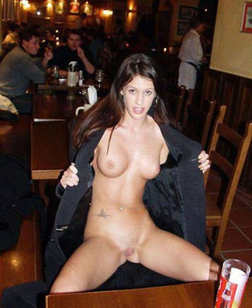 Jo J. reccomend Wife shows pussy in bar