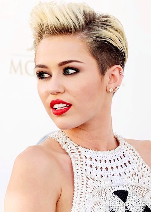 Miley cyrus shaved