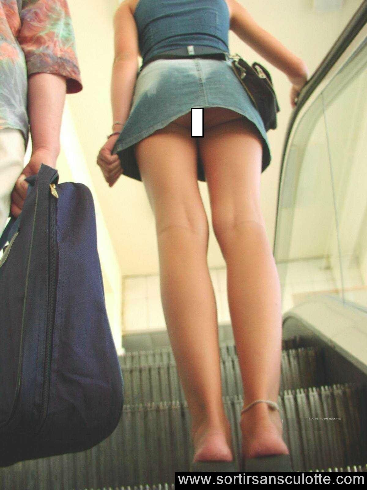 Walker recommend best of sexy escalator upskirt