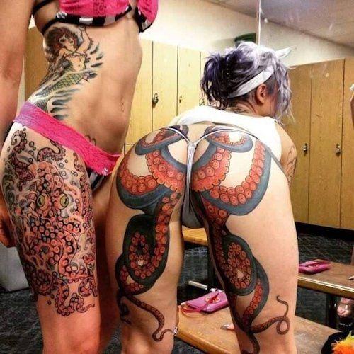 Adult nude tattoo