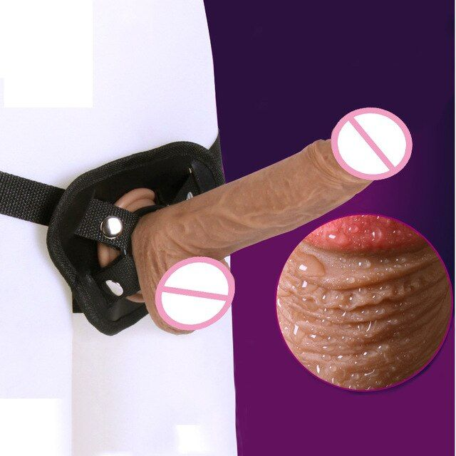 Realistic dildos and strapons