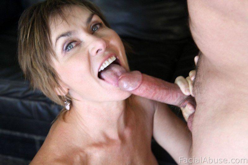 Mature throat sex