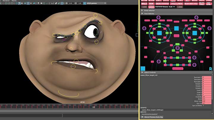 Hun reccomend Facial rigging in maya