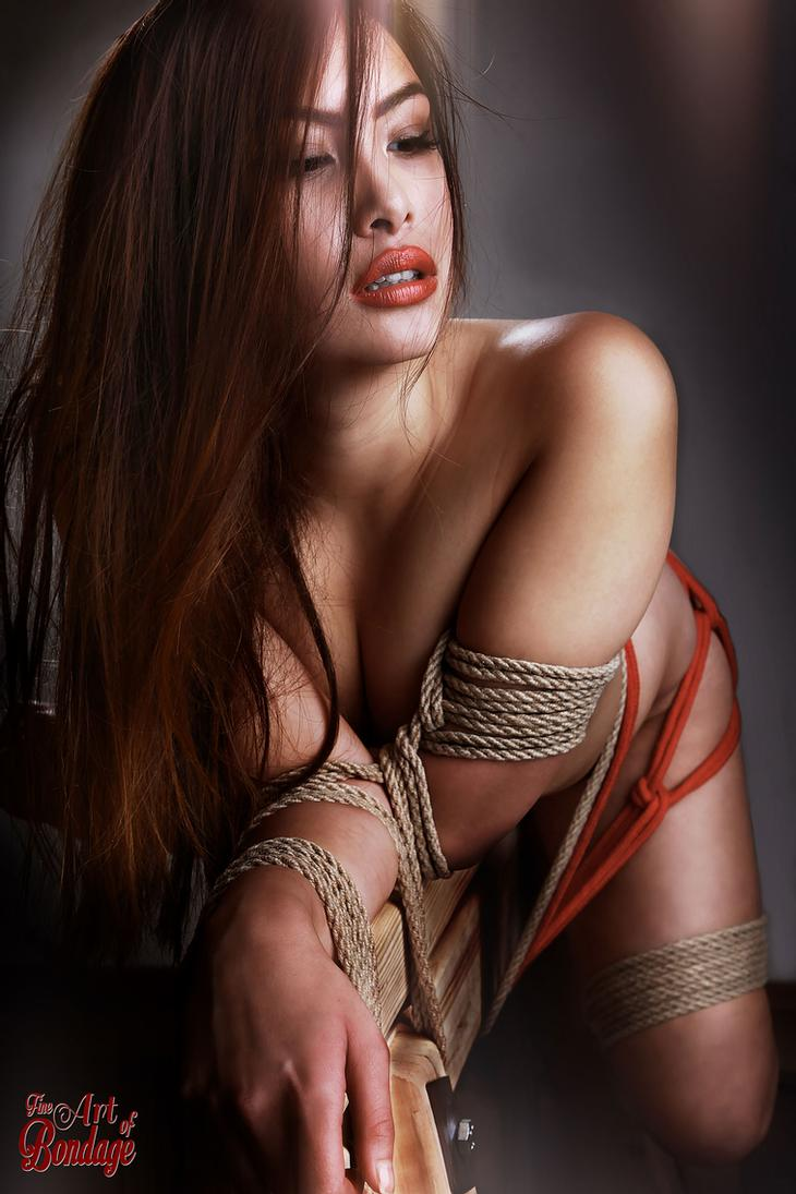Chinese women in rope bondage