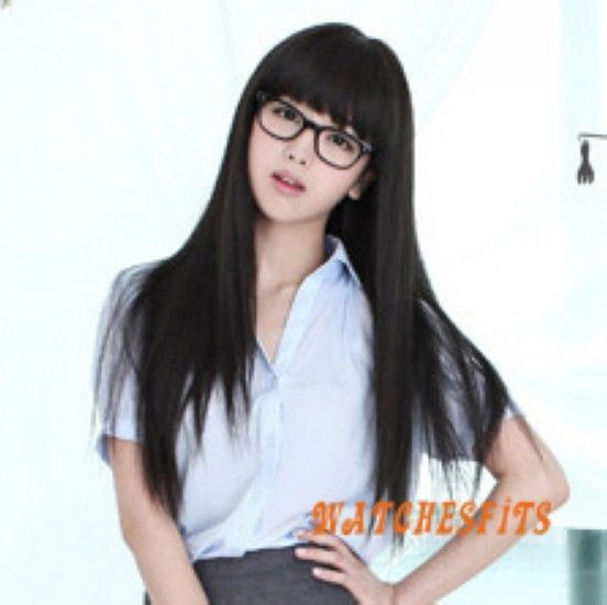 Asian style collection of wigs