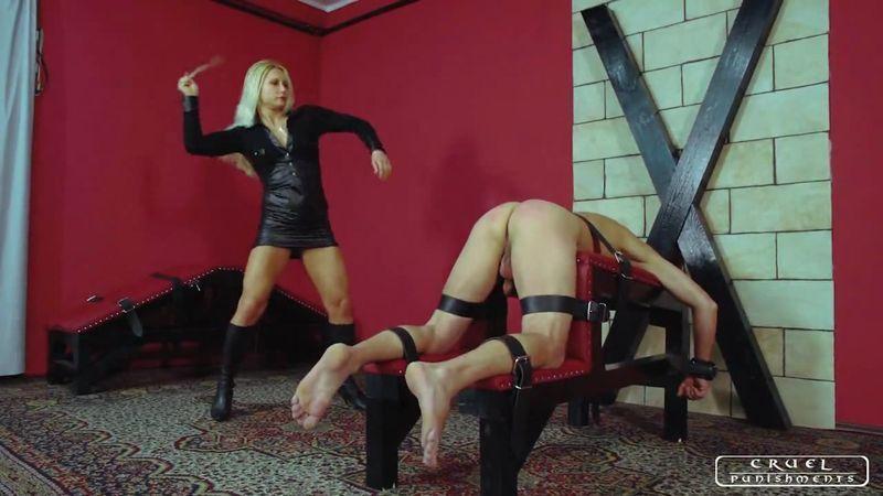 Femdom severe spanking punishment