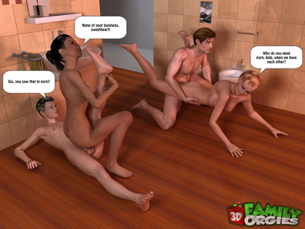 Cartoon Family Orgy