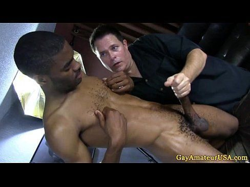Black gay handjob