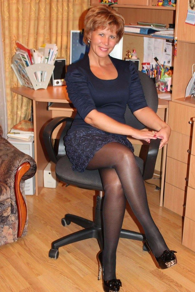 Women pantyhose mature hot in