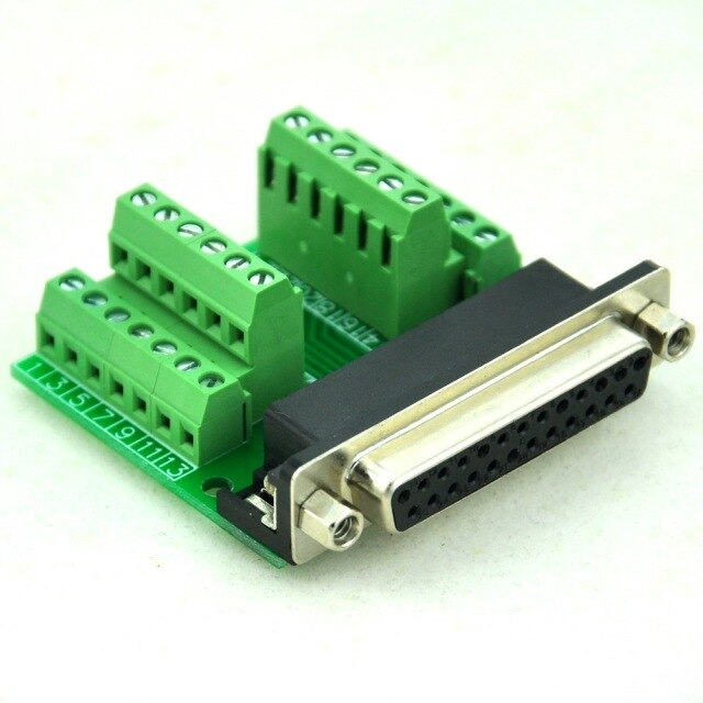 Db25 to barrier strip adapter