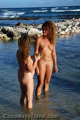 Nude white women in jungle