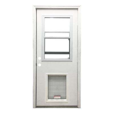 Entry door weather strip cat proof