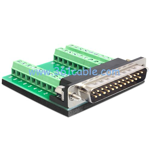 2-bit reccomend Db25 to barrier strip adapter