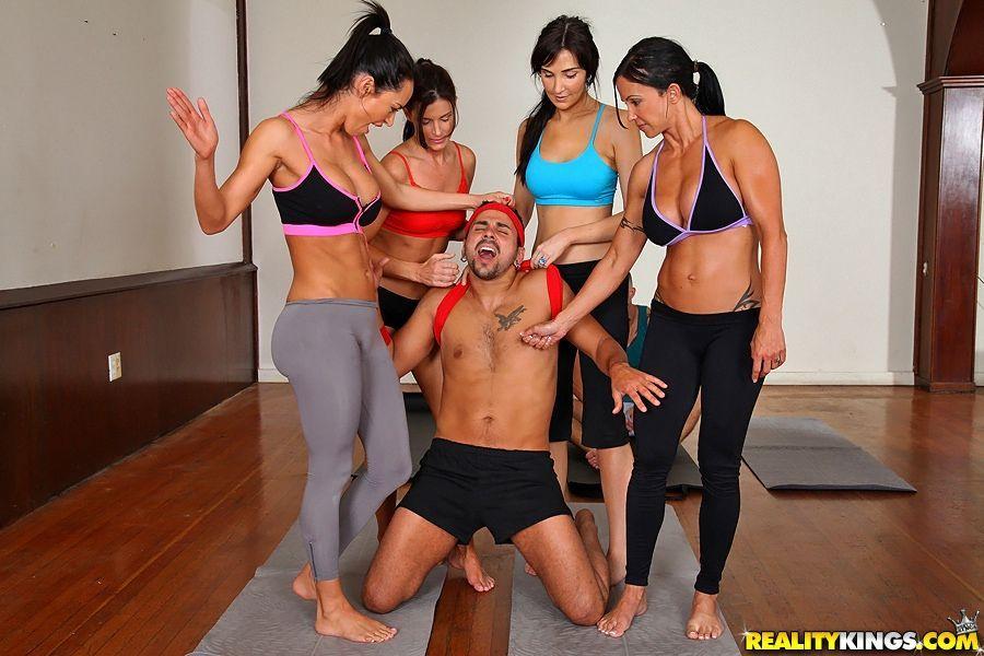 Yoga pants orgy