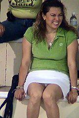Upskirt at the stadium