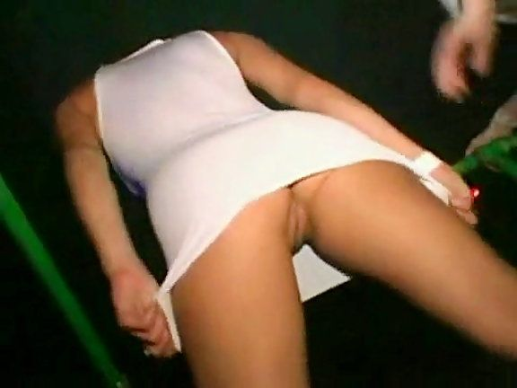 Night club upskirt video
