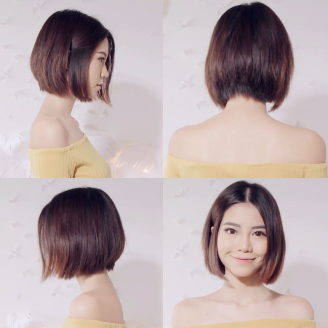 Asian cut hair style