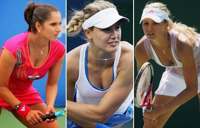 Sexy teen female tennis