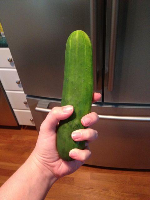 Cucumber inside anus