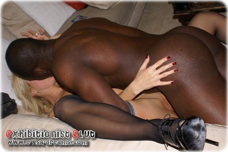 White slut wife who love black cock