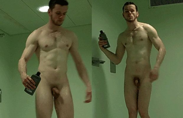 Naked men shower video