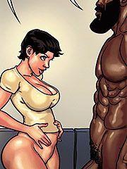 Art cartoon comic interracial