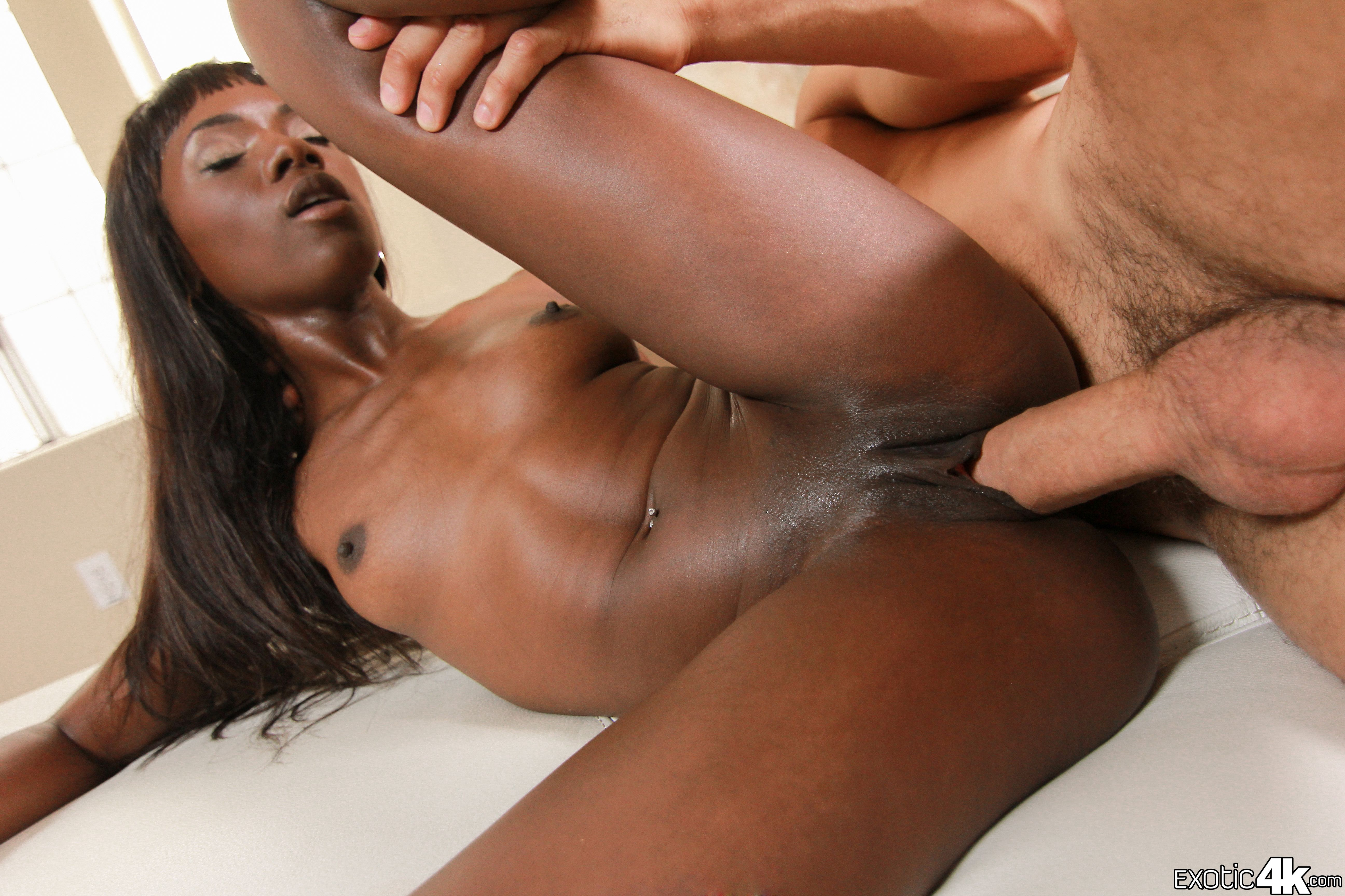 Best black creampies white pussy, horny naked sexy woman