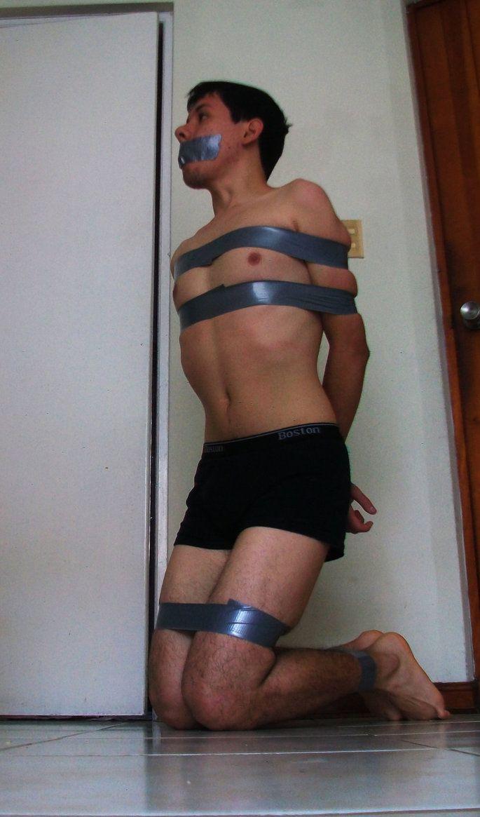 Duct tape bondage pics