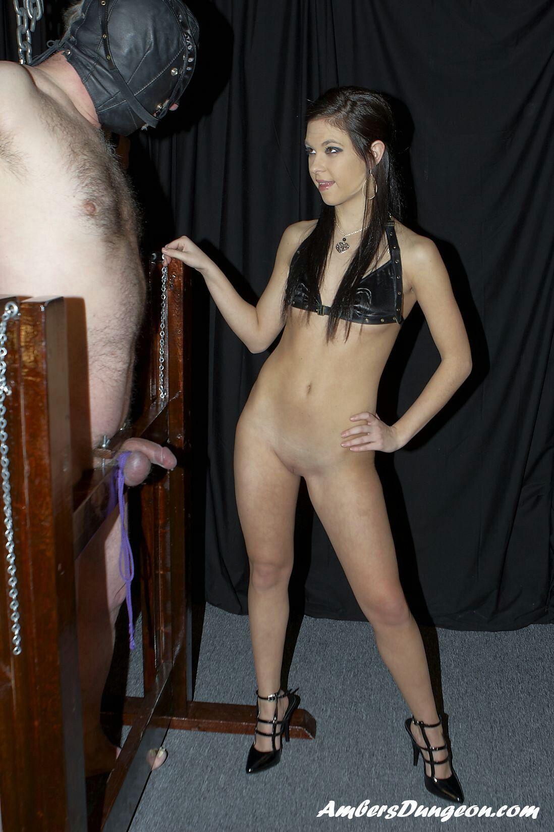 Teen Dominatrix Ladies slap subs