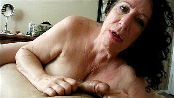 Granny deepthroats cock