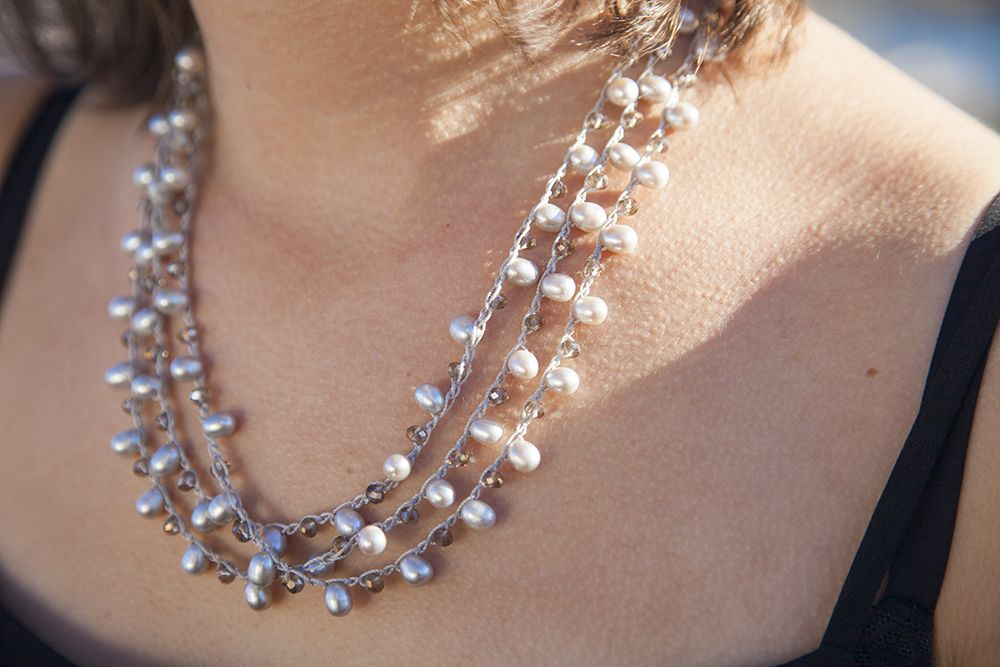 Hat T. reccomend Hand job necklace pearl