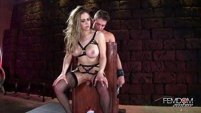 Male bondage cum control