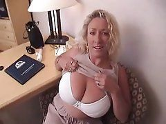 Cougar blonde chubby mature
