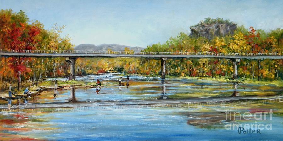 Paintings swinging bridge