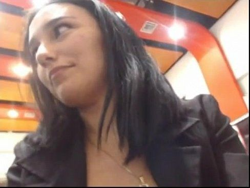 Public upskirt flash in diner