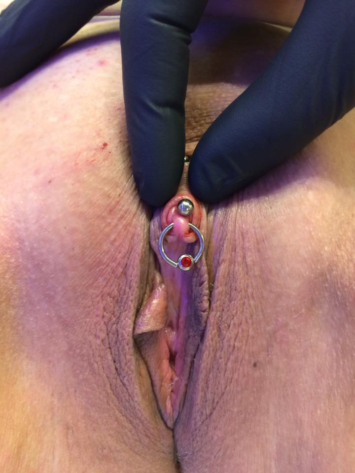 Accept. real clit piercing please