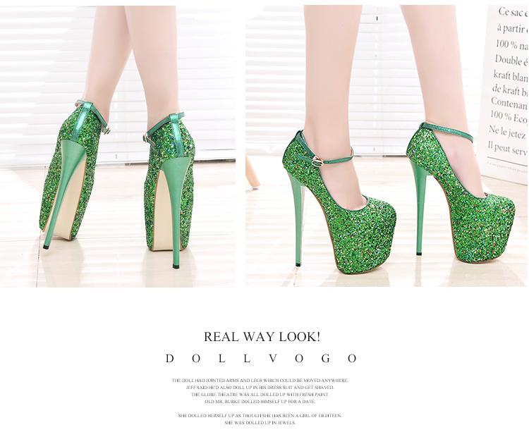 Shaved spike heels