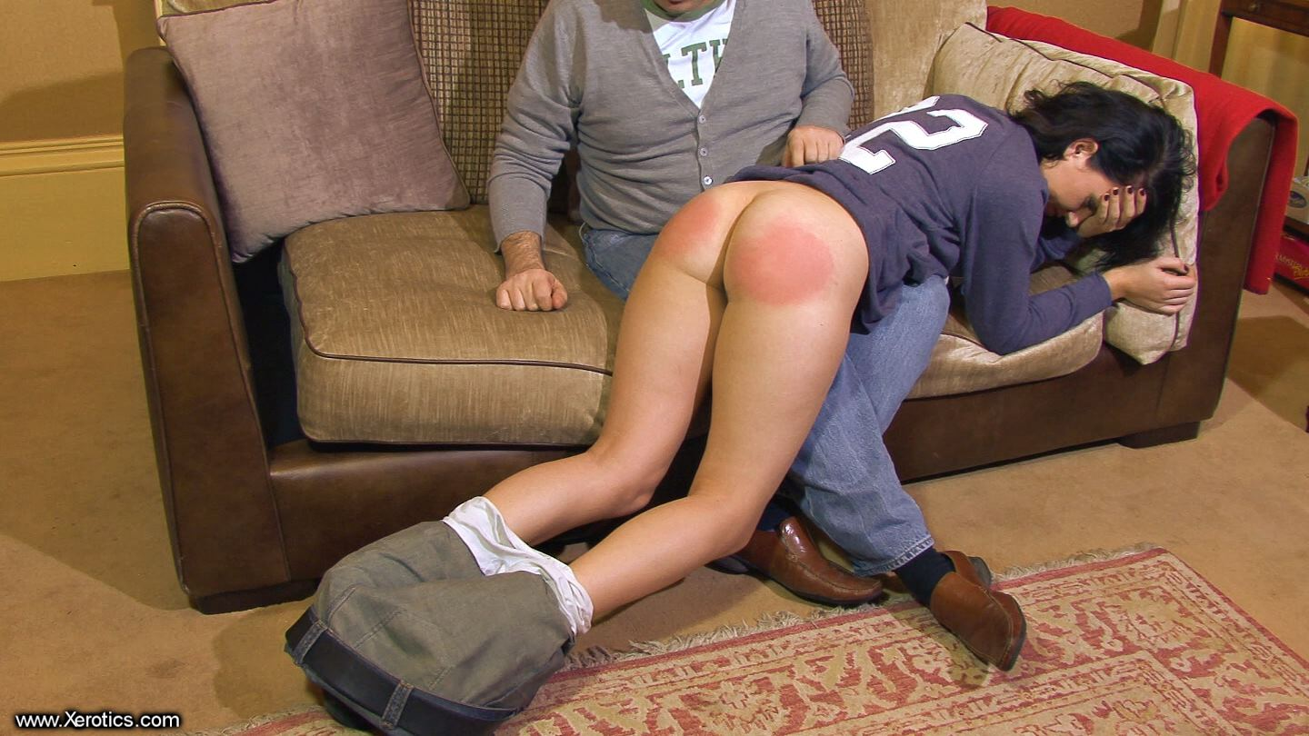 best of Her bare bottom Spank