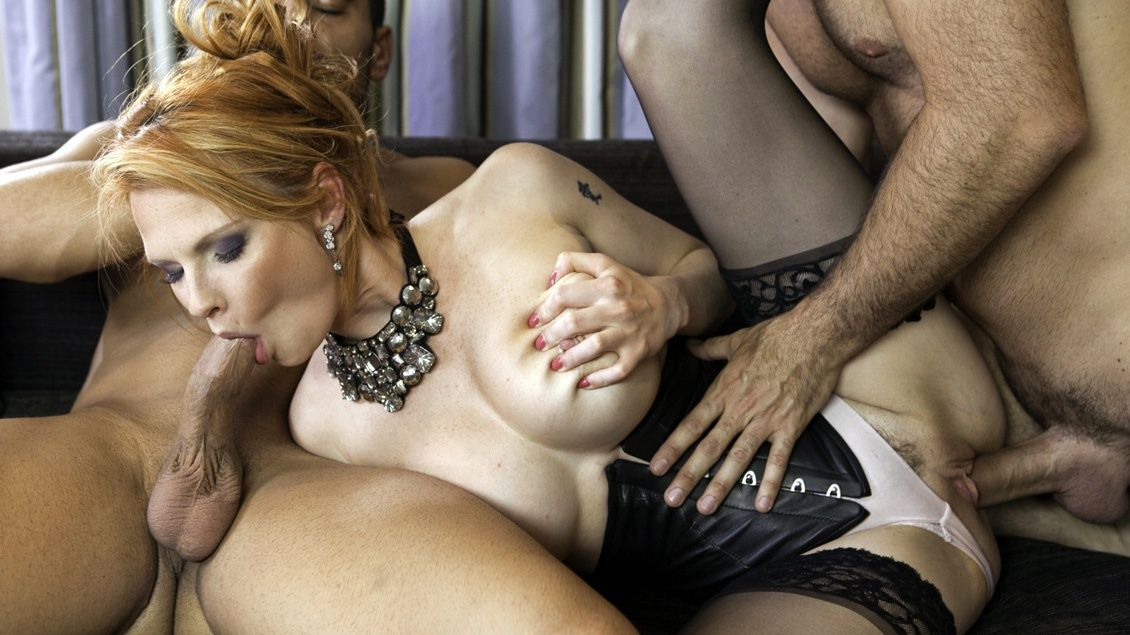 Spanked while giving a blow job