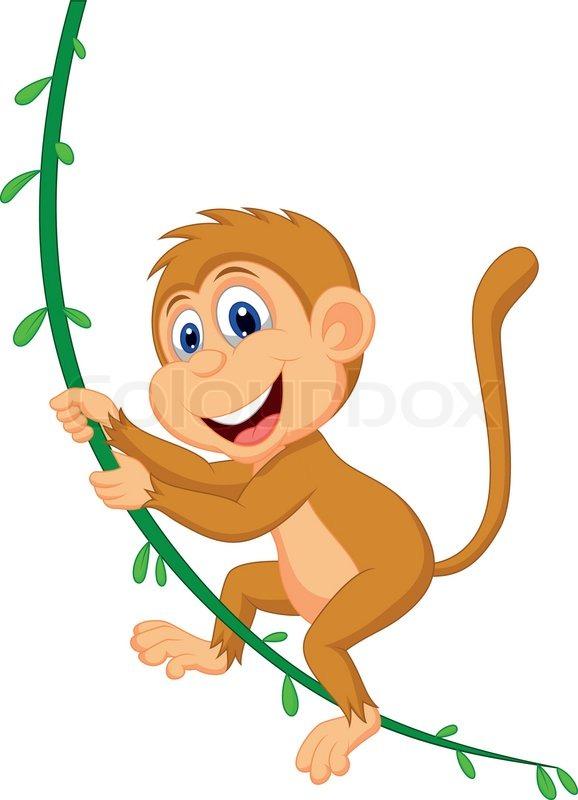 best of A tree from Swinging cartoon monkey