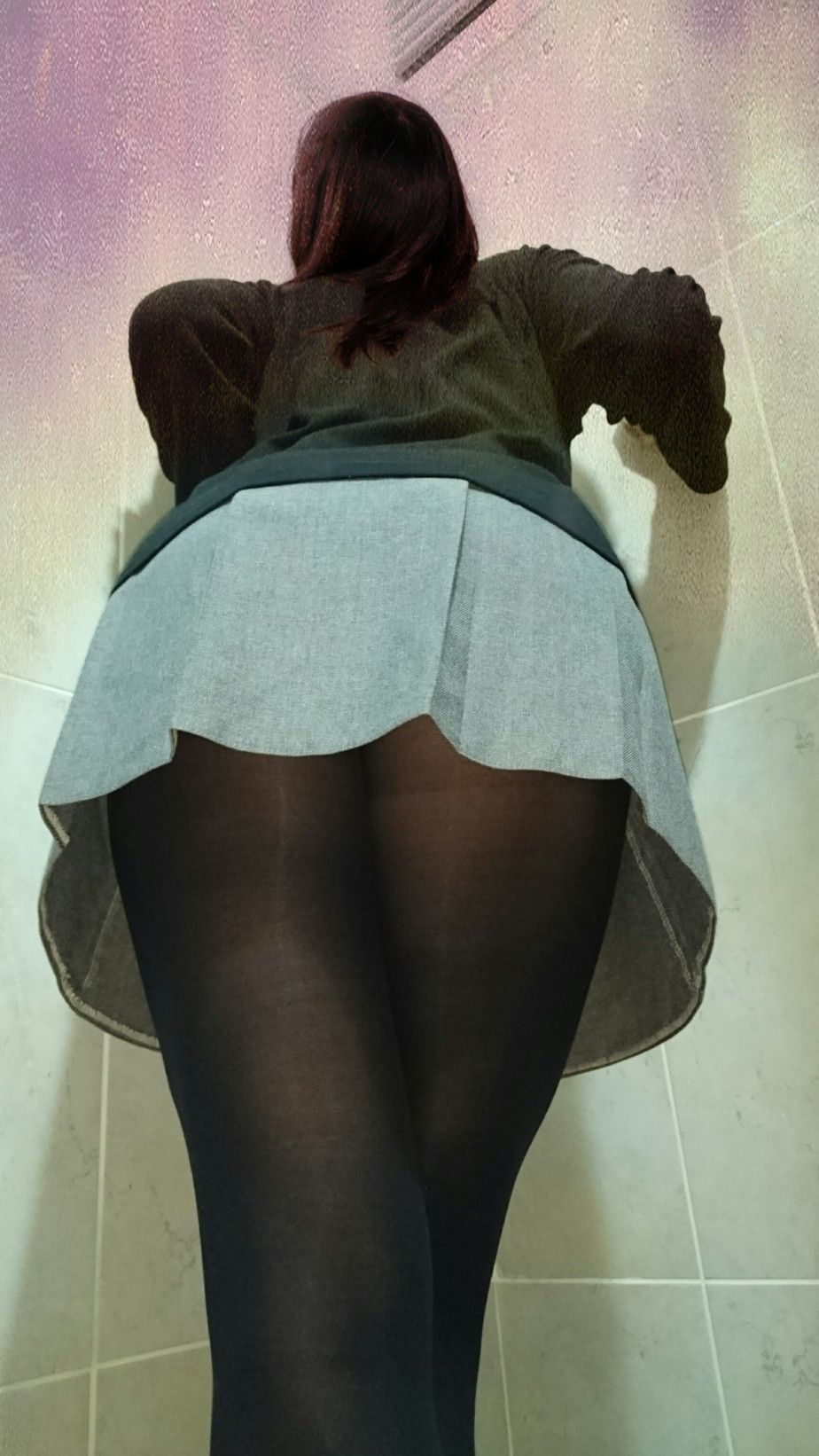 best of Pantyhose upskirts black X